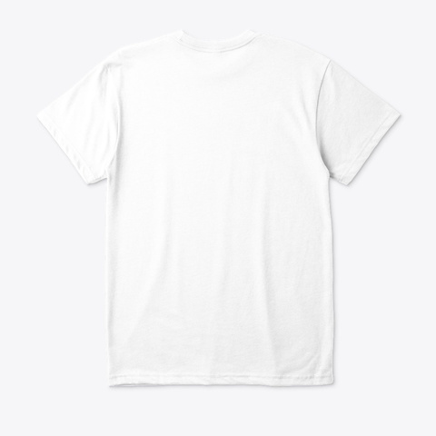 I Love Yoga White T-Shirt Back