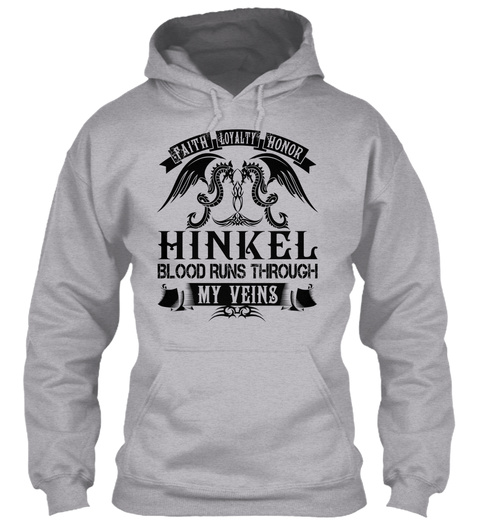 Hinkel   My Veins Name Shirts Sport Grey T-Shirt Front