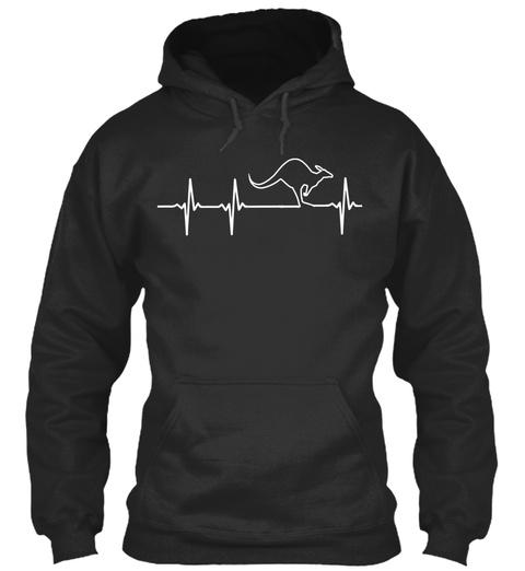 Australia In My Heartbeat Jet Black Sweatshirt Front
