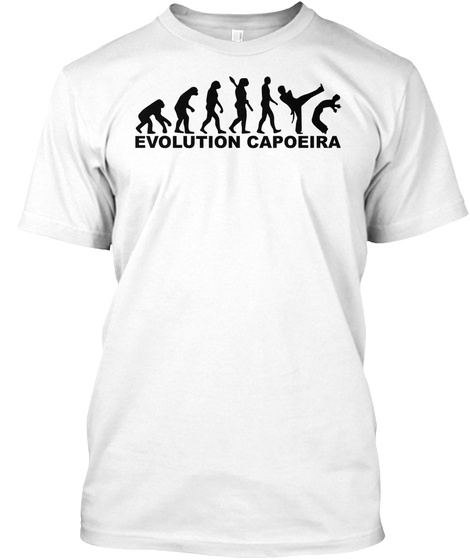 Evolution Capoeira White T-Shirt Front