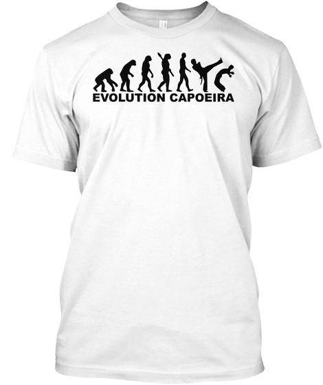 Evolution Capoeira White T-Shirt Front
