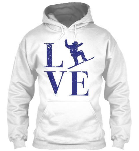 Lve White T-Shirt Front