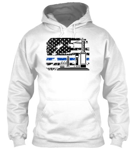 Civil Engineer Flag Shirt White Sweatshirt Front