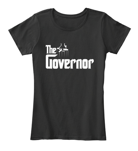 The Governor Black T-Shirt Front