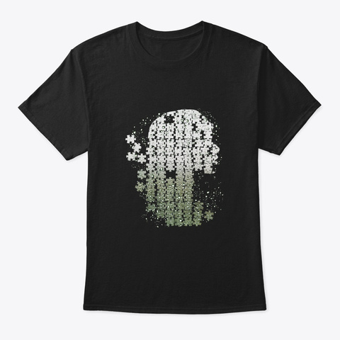 The Human Puzzle Black T-Shirt Front