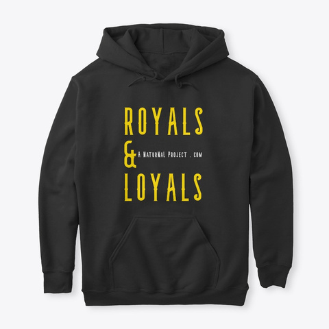 Royals & Loyals Crown Font Black T-Shirt Front