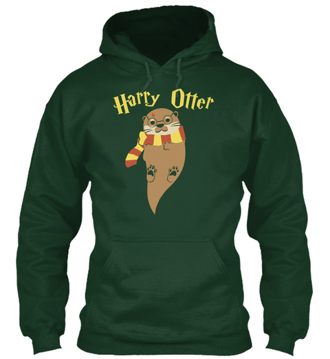Harry Otter Forest Green Sweatshirt Front