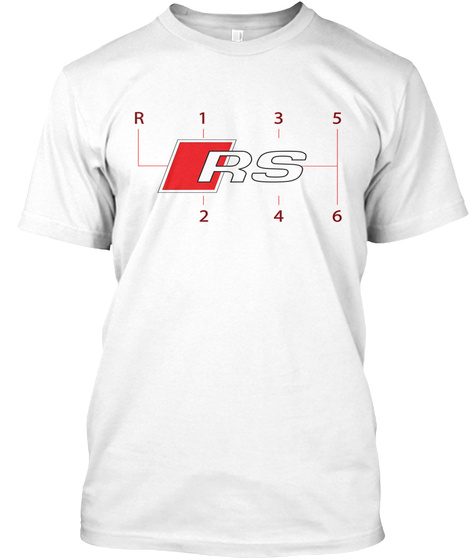 R  1   3   5  Rs 2   4   6 White T-Shirt Front