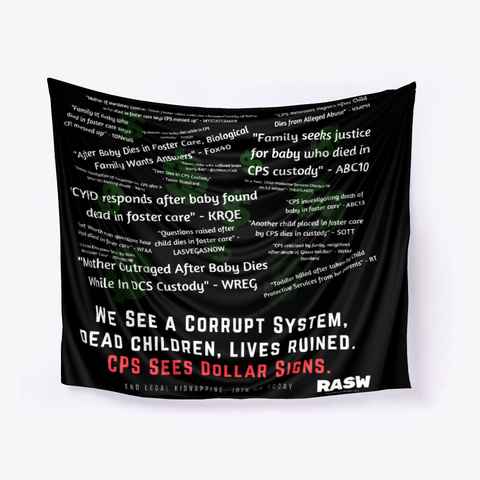 Cps See's Dollar Signs Banner Black T-Shirt Front