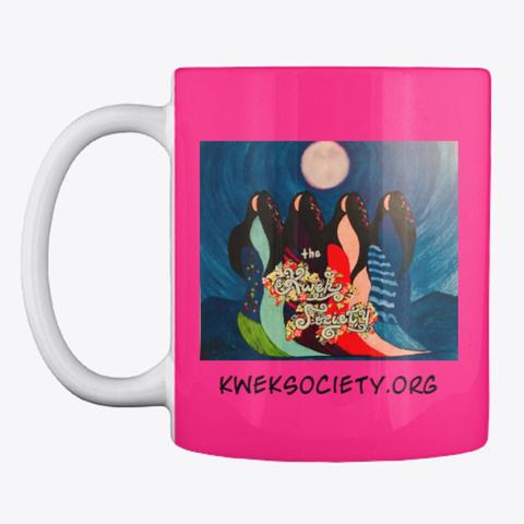 The Kwek Society Double Logo Mug Hot Pink T-Shirt Front