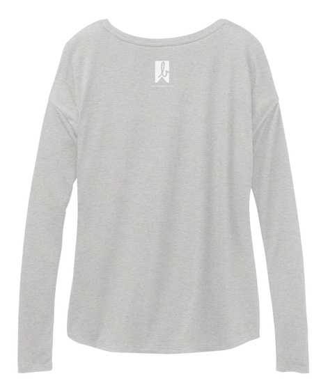 B Athletic Heather Long Sleeve T-Shirt Back