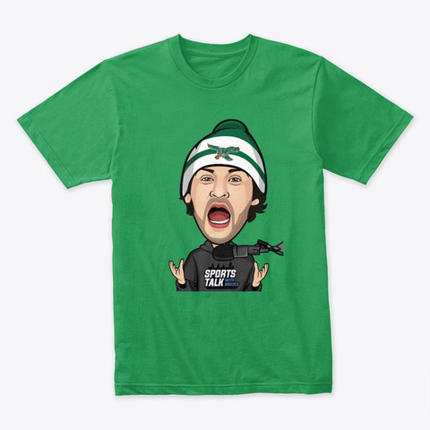 Sports Talk With Brodes Kelly Green T-Shirt Front