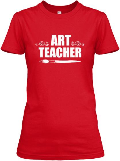 Art Teacher Red T-Shirt Front