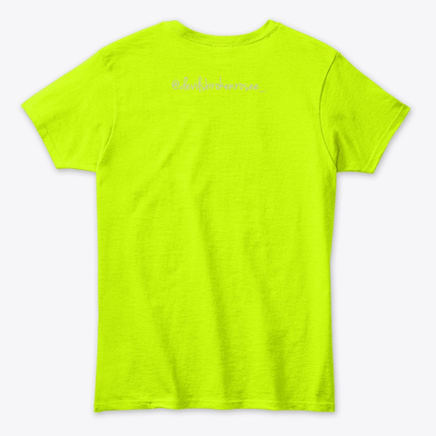Jokez Over  Mask'z Off Safety Green T-Shirt Back