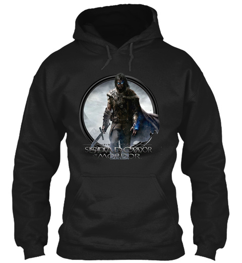 Shadow Of Mordor Black T-Shirt Front