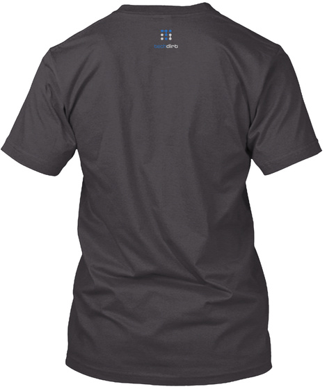 Caution: Copyright Heathered Charcoal  T-Shirt Back