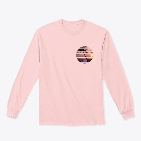 Sunset Beach Light Pink T-Shirt Front