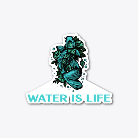 Water Is Life   Koi Fish Standard T-Shirt Front