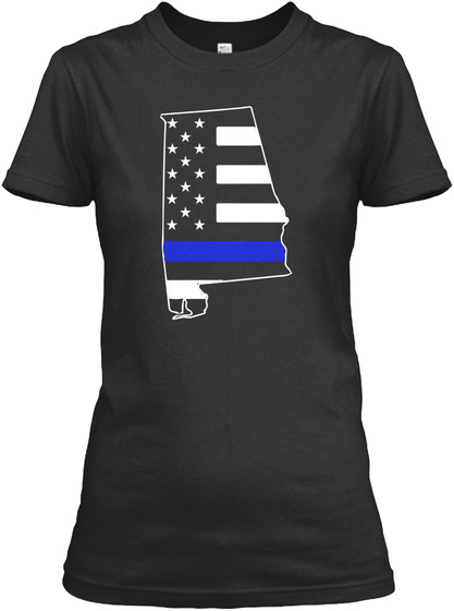 Alabama Thin Blue Line Women's T Shirts Black Women's T-Shirt Front