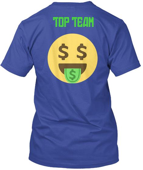 Top Team Deep Royal T-Shirt Back
