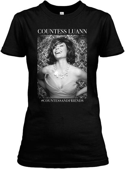Countess Luann Countess And Friends Black Women's T-Shirt Front