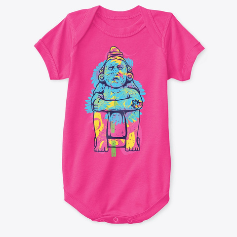 Buddha Baby Hot Pink T-Shirt Front