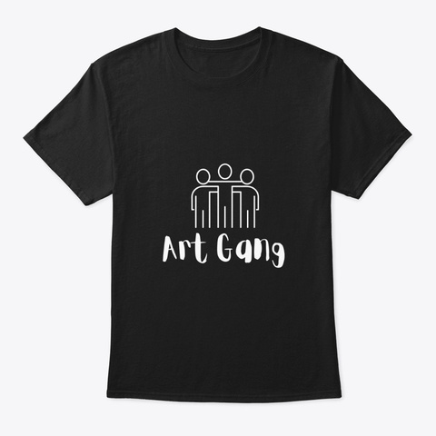 Art Gang  Black  Black T-Shirt Front