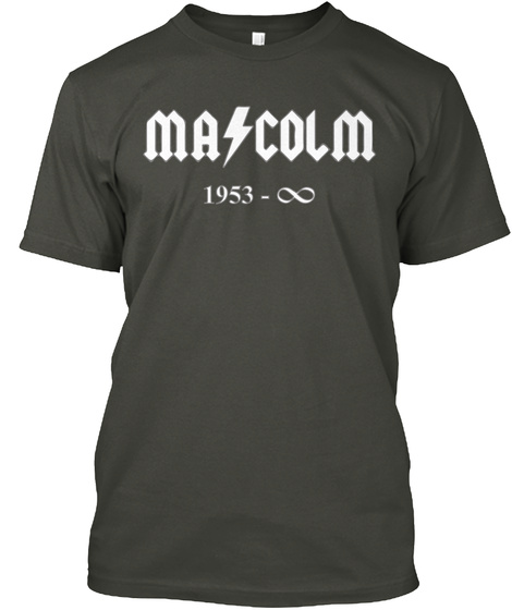 Malcolm 1953 Infinity Smoke Gray T-Shirt Front