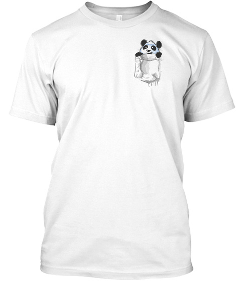 Pocket Panda White T-Shirt Front