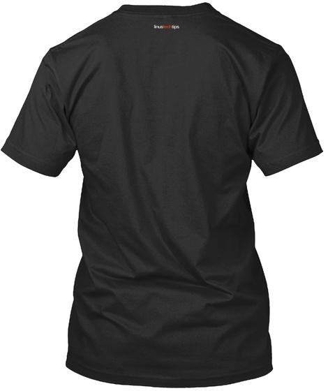 Na Not Visible Black T-Shirt Back
