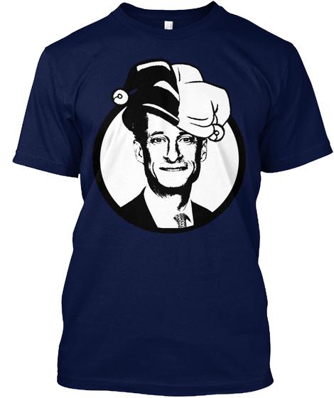 Weiner's A Buffoon!  Navy T-Shirt Front