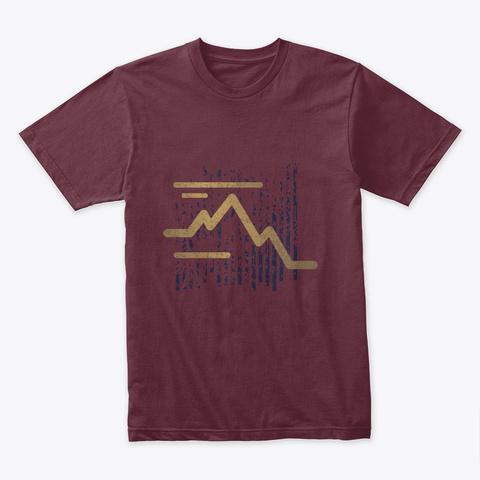 Art Maroon T-Shirt Front