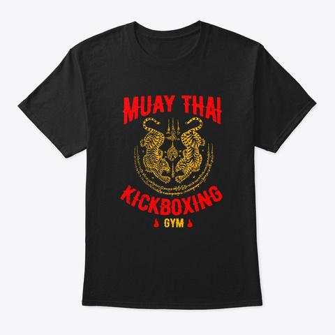 Tiger Muay Thai Kickboxing Gym Mma Train Black T-Shirt Front
