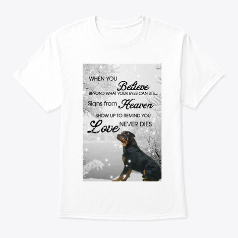 Rottweiler Snow White T-Shirt Front