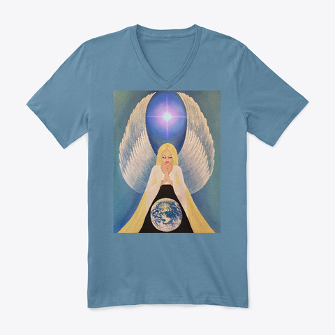 Angel Of Protection | Art Of Jameela Steel Blue Camiseta Front
