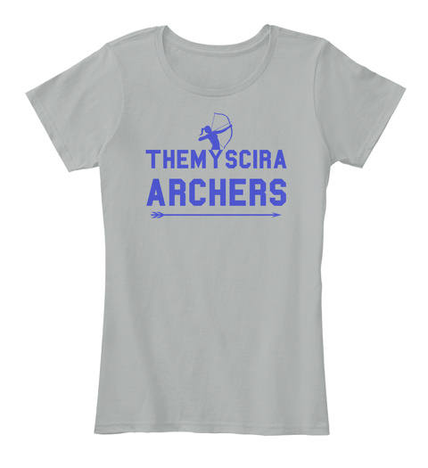 Themyscira Archers Blue Short Sleeves Grey Women's T-Shirt Front