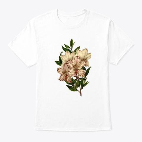 Botanical Vintage Floral  White T-Shirt Front