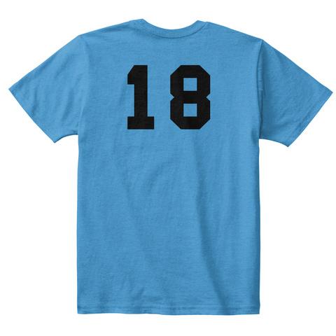 18 Heathered Bright Turquoise  T-Shirt Back