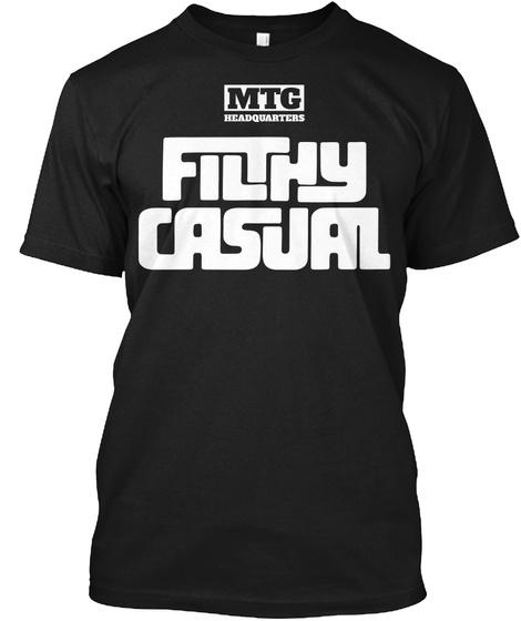 Mtg Read Quarters Filthy Casual Black T-Shirt Front