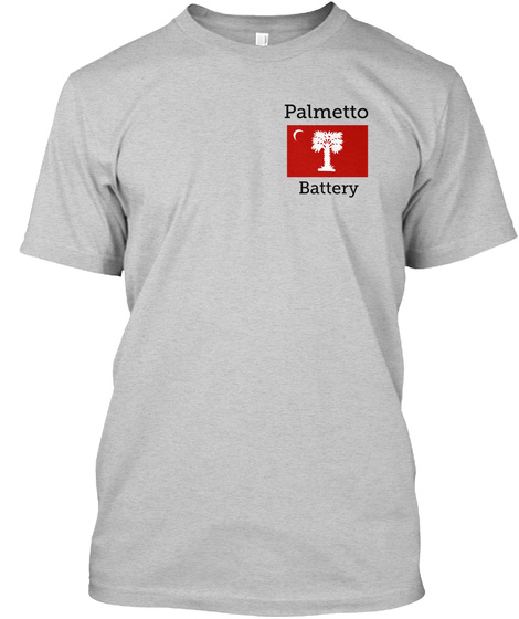 Palmetto Battery Light Steel T-Shirt Front