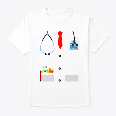 Doctor Funny Physician Costume Men Boy White T-Shirt Front