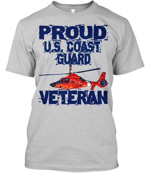 Proud Cg Veteran T Shirt  Light Steel T-Shirt Front