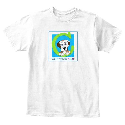 Critter Kin Kids White T-Shirt Front