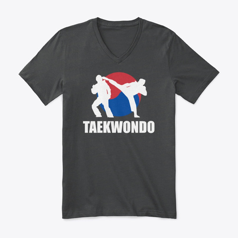 Taekwondo Fighter Tee (Cny1902) Dark Grey Heather T-Shirt Front