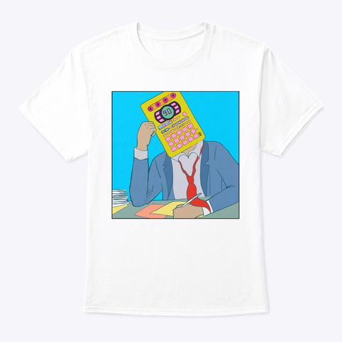 9 To 5  White T-Shirt Front