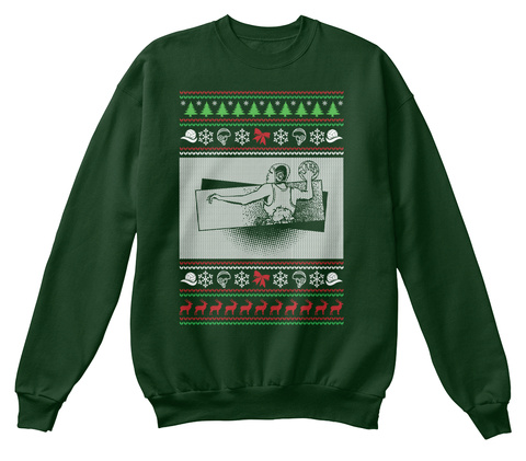 Water Polo Ugly Christmas Sweater Deep Forest  T-Shirt Front