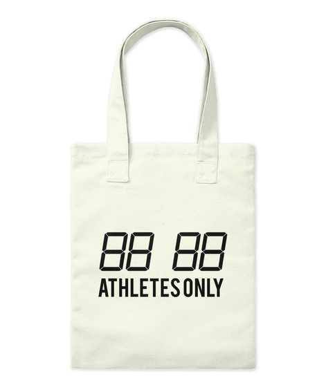 """Athletes Only"" Natural T-Shirt Front"