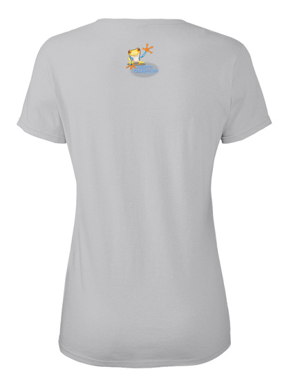 Princess Of My Garden Ellesson Sport Grey Women's T-Shirt Back