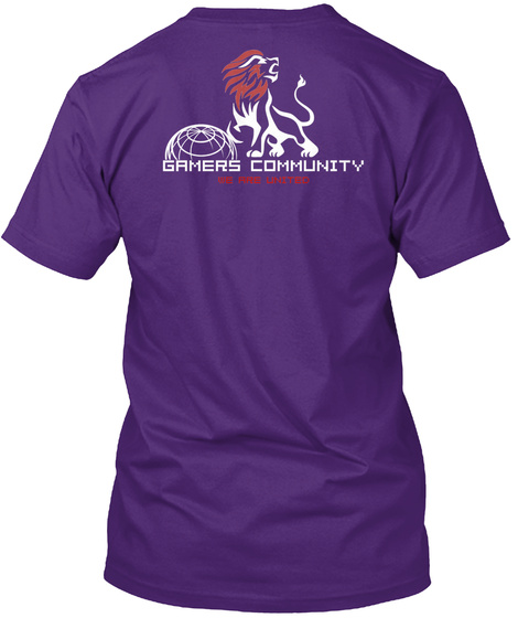 Gamers Community We Are United Purple T-Shirt Back