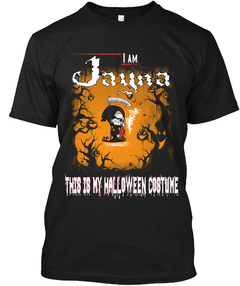 Jayna Halloween Costume Black T-Shirt Front